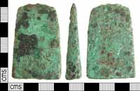 Early Bronze Age axe found in Ashley, Hampshire.  ARCH 2.42
