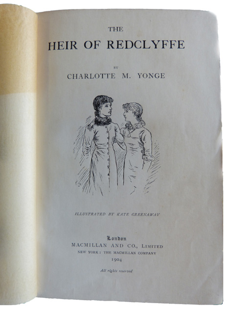 title page of Heir of Redclyffe