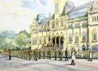 The Royal Hampshire Regiment Farewell Parade, 1992 by Kate Dicker
