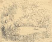 Drawing, pencil drawing, Sutton Manor, Wonston, Hampshire, about 1849?