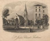 Print, engraving, St Jude's Church, Southsea, Portsmouth, Hampshire, late 19th century?