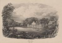 Print, lithograph, Milford Water ie Milford Lake, Highclere Park, Highclere, Hampshire, mid 19th century.