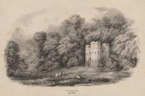 Print, lithograph, Andover Lodge, Highclere Park, Highclere, Hampshire, mid 19th century.