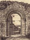Drawing, pen and wash, Norman doorway, removed from The Grange, now the visitor's entrance to Beaulieu Abbey, Beaulieu, New Forest, Hampshire, drawn by A E Henderson, 1947 The doorway comes from the chapel at the grange or farm, St Leonard's Farm, Beaul