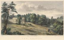Print, hand tinted lithograph, The Grange, Northington, Hampshire, lithographed by P Gauci, 9 North Crescent, Bedford Square, London, published by Jacob and Johnson, Winchester, Hampshire, 1839.