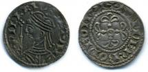Coin, English, silver, issued by William I, moneyer, Anderbode, at Winchester, Hampshire, 1066 to 1087.