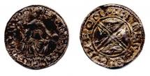 Coin, Anglo-Saxon, silver, issued by Edward the Confessor, moneyer, Aelfwine, at Winchester, Hampshire, circa 1056 to 1059.