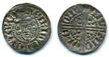 Coin, English, silver, issued by Henry III, moneyer, Nicole, at Winchester, Hampshire, 1247 to 1272.