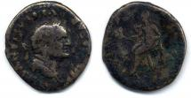 Coin, Roman, silver, found at Winchester, Hampshire, issued by Vespasian, 69 to 71.