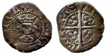Coin, English, silver, found at Winchester, Hampshire, issued by Henry V, at London, 1413 to 1422.