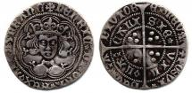 Coin, English, silver, found at Hursley Road, 146, Chandlers Ford, Hampshire, issued by Henry VI, at Calais, France, 1422 to 1471.