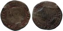 Coin, silver, issued by Edward VI, at Tower of London, London, 1551.