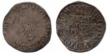 Coin, silver, issued by Charles II, 1661.