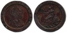 Coin, copper, issued by George III, 1797.