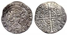 Coin, English, groat, excavated at Winchester, Hampshire, issued by Edward IV, at London, 1466 to 1467.