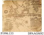 Photograph, black and white, showing a map of hundreds of Hampshire, 1600