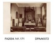 Photograph, the view of the altar in the chapel at Tichborne Housevol 1, page 24