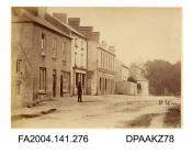 Photograph, view of the road opposite Cahir Barracks showing Mr Holohan's house, taken by R Vervega, 1869vol 1, page 34 - Views of Cahir Barracks