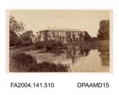 Photograph, Tichborne House viewed from the lake, after the alterations 1n 1864, taken by William Savage of Winchestervol 1, page 62 - Views connected with the Trials.