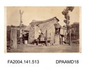 Photograph, the shack in Wagga Wagga where Arthur Orton alias Thomas Castro and his wife Mary Ann Bryant lived when first married circa 1865, taken by William Fearne of Wagga Wagga, Australiavol 1, page 62 - Views connected with the Trials.
