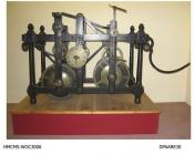 Turret clock, movement, from Lord Bolton's estate, Hackwood Park, from James Gregory, clockmaker, Basingstoke, Hampshire, probably made in London, 1813