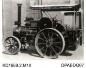 Photograph, black and white, shoing a traction engine for W A Baldock and Sons, built by Tasker and Co, Waterloo Foundry, Anna Valley, Abbotts Ann, Hampshire