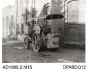 Photograph, black and white, showing a traction engine for Ceylon, built by Tasker and Co, Waterloo Foundry, Anna Valley, Abbotts Ann, Hampshire