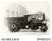 Photograph, black and white, showing a steam wagon for Hoare Brothers, Tavistock and Saltash, Devon, built by Tasker and Company, Waterloo Foundry, Anna Valley, Abbotts Ann, Hampshire