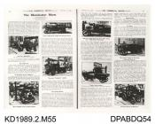 Photograph, black and white, showng The Commercial Motor p61, 27 February 1908