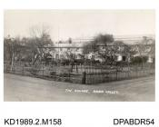 Photograph, black and white, showing the Square, Anna Valley, Abbotts Ann, Hampshire, 6 April 1961