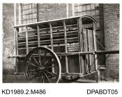 Photograph, black and white shoing a horse wagon, for LtCol A C Nicholson, built by Tasker and Co, Waterloo Foundry, Anna Valley, Abbotts Ann, Hampshire