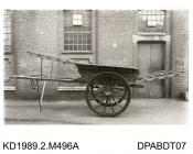 Photograph, black and white, shoing a Bedford Cart, built by Tasker and Co, Waterloo Foundry, Anna Valley, Abbotts Ann, Hampshire