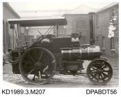 Photograph, black and white, showing a ploughing engine, for Walter T Ware, Manningford, Wiltshire, built by Tasker and Co, Waterloo Foundry, Anna Valley, Abbotts Ann, Hampshire
