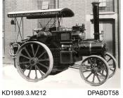 Photograph, black and white, showing a traction engine, class B2, for W A Baldock and Sons, built by Tasker and Co, Waterloo Foundry, Anna Valley, Abbotts Ann, Hampshire