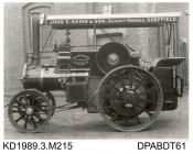 Photograph, black and white, showing a class B2 compound spring motor, for J E Nadin and Son, built by Tasker and Co, Waterloo Foundry, Anna Valley, Abbotts Ann, Hampshire