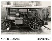 Photograph, black and white, showing a straw burner, B2 engine, for Lavy and Company, London, built by Tasker and Co, Waterloo Foundry, Anna Valley, Abbotts Ann, Hampshire
