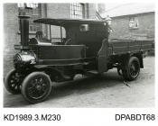 Photograph, black and white, showing a steam wagon, 3 ton, built by Tasker and Co, Waterloo Foundry, Anna Valley, Abbotts Ann, Hampshire