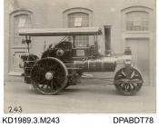 Photograph, black and white, showing a steam roller, 10 ton road roller, for Forfar CC, Scotland, buily by Tasker and Co, Waterloo Foundry, Anna Valley, Abbotts Ann, Hampshire