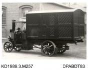 Photograph, black and white, showing a 5 ton steam wagon, built by Tasker and Co, Waterloo Foundry, Anna Valley, Abbotts Ann, Hampshire