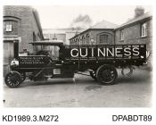 Photograph, black and white, showing a trailer for Guinness and a steam wagon for Thomas Allen, London Docks, London, from Tasker and Co, Waterloo Foundry, Anna Valley, Abbotts Ann, Hampshire