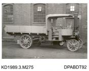 Photograph, black and white, showing a steam wagon, Little Giant, for Siggers, built by Tasker and Co, Waterloo Foundry, Anna Valley, Abbotts Ann, Hampshire