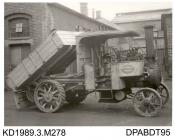Photograph, black and white, showing a steam wagon, for Willis, built by Tasker and Co, Waterloo Foundry, Anna Valley, Abbotts Ann, Hampshire
