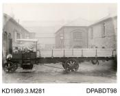 Photograph, black and white, showing a steam wagon, Jamaica Wagon, for Crown Agents, built by Tasker and Co, Waterloo Foundry, Anna Valley, Abbotts Ann, Hampshire, 1909