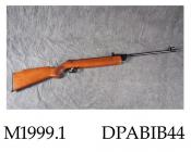 Air rifle, .22 calibre, series 70 model 79, made by Diana, 1970s break action, adjustable reas