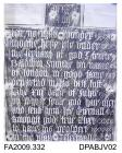Brass rubbing, in black heel-ball, on white paper, inscription plaque, Baldwin Smythe, 1557, 12 lines of English text, with merchant mark ( now in British Museum), Holy Trinity Church, Guildford, Surrey, rubbed by Herbert Druitt, 21 July 1905