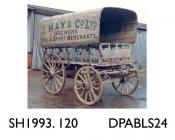 Dray, made for J May and Co, Brewers, Basingstoke by Trumans, Basingstoke, Hampshire, 1885 used by J May and Co, Brewers, Basingstoke until 1912 then sold to Mr Compton who converted it into a caravan initially for use during shooting expeditions in Ham