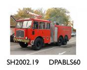 Fire/crash tender, Thornycroft Nubian fire/crash tender for airfield use, painted red, Registration Number YMY 432H, used by the MOD at DERA site in west Wales, manufactured by Scammell Lorries at Watford, Hertfordshire, to a Thornycroft design and carr