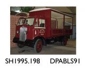 Lorry, Sturdy lorry, 2 axle rigid body, flat lorry, PIMCO livery, made by Thornycroft, 1937 given a new petrol engine in 1995