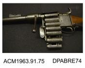 Rifle, Treeby patent fourteen shot chain rifle, .54ins caliber, made in London, c1855