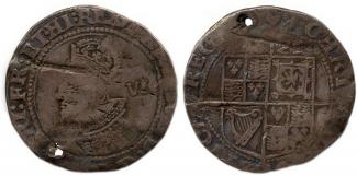 Coin, silver, issued by Charles I in 1625.